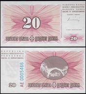 Bosnia & Herzegovina - 20 Dinara Banknote 1994 UNC Pick 42  (14416 - Bosnië En Herzegovina