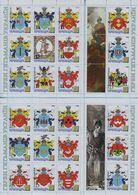 UKRAINE / Private Issue / Vignettes / Ukrainian Cossacks. Coats Of Arms Of Ukrainian Hetmans . Heraldry. 2006-2008 - Ucrania