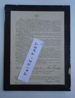 FAIRE-PART DECES 1916 LA FONTA De CHAUNAC-LANZAC De LANET De BUROS 33-St-Loubès Froyennes Belgique * - Avvisi Di Necrologio