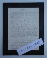 FAIRE-PART DECES 1921 De CAFFARELLI JACQUINOT De PRESLE 24-Saint-Martial-Laborie * - Avvisi Di Necrologio