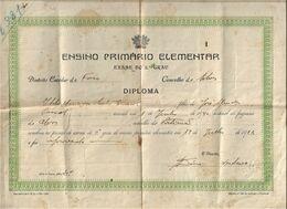 Faro - Silves - Diploma Do Ensino Primário Elementar 1952 - Escola - School - École - Diploma & School Reports