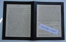FAIRE-PART DECES 1924 De MALET De TANOUARN De ROUGEMONT De MONTBRON Glane 24-Coulaures * - Avvisi Di Necrologio