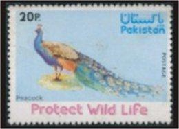PAKISTAN SG 411-12 WILD LIFE PEACOCK Fauna Flora - Pakistan