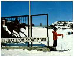 """(H 6) Australia - NSW - Perisher Valley """"The Man From Snowy River"""" Hotel - Australien"""