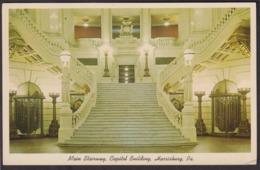 Postcard - USA - Circa 1960 - Main Stairway - Capitol Building - Non Circulee - A1RR2 - Harrisburg