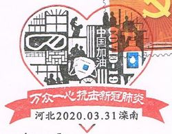 Scarce To See This On The CHINA Cover. Three Different Colors Of Covid-19 Special Chop In Market - China