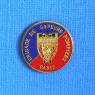 1 PIN'S //  ** BRIGADE DE SAPEURS POMPIERS DE PARIS ** . (Ballard Doré à L'OR Fin) - Pompiers