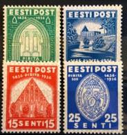 ESTONIA 1936 - MLH - Sc# 134-137 - Complete Set! - Estonie