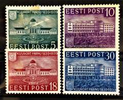 ESTONIA 1939 - MLH - Sc# 144-147 - Estonie