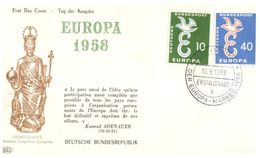 (H 8) EUROPA CEPT - 1958 - Germany - Charlemagne - Konrad Adenauer - Europa-CEPT