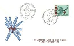 (H 8) EUROPA CEPT - 1967 - Luxembourg - Championnat D'Europe Des Joueurs De Quilles - Europa-CEPT