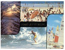 (H 10) Australia - NSW - Long Jetty With Surfers - Cartoline