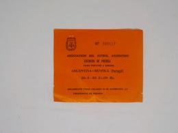 Cx13 B) Football 1982 Asociación Del Futbol Argentino Entrada De Prensa ARGENTINA - BENFICA PORTUGAL 12,5X10,5 Cm - Soccer