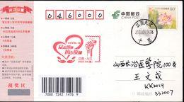 CHINA CHINE CINA  POSTCARD JIANGXI JIUJIANG TO SHANXI CHANGZHI  WITH  ANTI COVID-19 / VIRUS INFORMATION - Cina