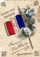 Militaria - Carte Celluloid - Classe 1911 - Souvenir Du 15 Eme Chasseurs - Carte Peinte - Regimente
