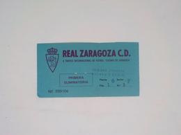 Cx13 B) Football REAL ZARAGOZA C.D. - SPORTING CLUB PORTUGAL 7,5X17,5cm - Other