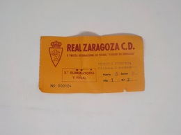 Cx13 B) Football REAL ZARAGOZA C.D. - SPORTING CLUB PORTUGAL 7,5X14cm - Other
