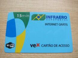 Internet Access Card At Airport, 15 Minutes - Brésil