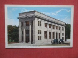 National Bank Of Middlesboro        Middlesboro Kentucky >   Ref 4273 - Etats-Unis