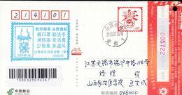 CHINA CHINE  POSTCARD SHANXI CHANGZHI TO JIANGSU WUXI WITH 宣传口号  Slogan ANTI COVID-19  INFORMATION - Cina