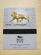 Macao MGM Golden Lion Card,Platinum - Carte Di Casinò