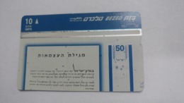 Israel-(bzp9)-israel Proclamation Of Independence-(tirage-1.135)-mint Card+1card Prepiad Free - Israele