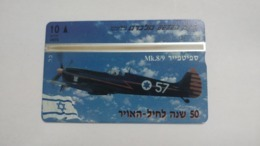 Israel-(bzp13)-spitfire Mk 8/9-(tirage-1.085)-mint Card+1card Prepiad Free - Israele
