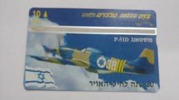 Israel-(bzp14)-mustang P-51d-(tirage-1.085)-mint Card+1card Prepiad Free - Israele