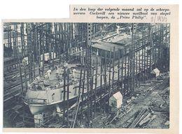 Orig. Knipsel Coupure Tijdschrift Magazine - Hoboken - Scheepswerf Cockerill Met Nieuwe Mailboot Prins Philip  - 1939 - Non Classés