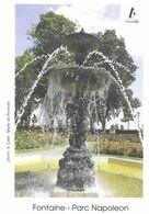THIONVILLE MOSELLE - LA FONTAINE DU PARC NAPOLEON, PAP ENTIER POSTAL FLAMME LA POSTE 2010, VOIR LES SCANNERS - Monumenti