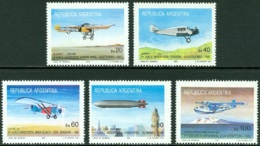 ARGENTINA 1985 AIR MAIL SERVICE, AIRCRAFT** (MNH) - Unused Stamps