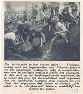 Orig. Knipsel Coupure Tijdschrift Magazine - Vilvoorde - Rapen Van Cokes - 1939 - Oude Documenten