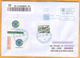 1993 2015 2020 Moldova Moldavie ATM Posta Moldovei Neopost Cover Personalized Postage Stamps III-2015 - ATM - Frama (labels)