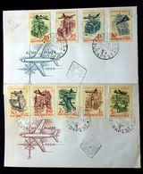 Hungary 1958   AIrPost    Minr. 1561-69A  FDC  ( Lot 261 ) - FDC