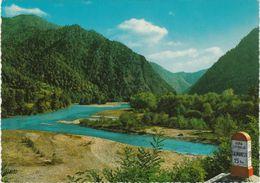 Roumanie La Vallée De L'Olt Région D'ARGES Borne Routière CARA LOTRULUI CALIMANESTI 15KM VOIR DOS - Romania