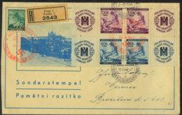 19.4.1942 Gelaufener Brief M. 2 Sonderstempel (Hitler-Geburtstag) Von Prag N. Cisoiree - Böhmen Und Mähren