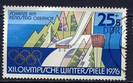 JO Innsbruck 1975 Allemagne Démocratique - Germany - Deutschland Y&T N°1782 - Michel N°2102 (o) - 25p+5p Tremplin De Ski - Inverno1976: Innsbruck