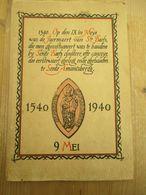 Gent Sint Baafs Sint Amandsberg 1940 Met Stadsplan Roestvlekken Verder Doede Staat - Histoire
