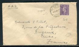 Royaume Uni - Enveloppe D'un Soldat En Egypte Pour La France En 1946 - Prix Fixe !!!! - Réf A 40 - Levante Britannico