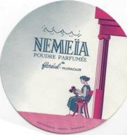 ETIQUETTE GRASSE POUDRE PARFUMEE NEMEIA PARFUMEUR FLOREAL MURAOUR PUBLICITE PARFUMS - Etiquettes