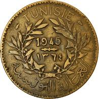 Monnaie, Tunisie, Anonymes, 2 Francs, 1945, Paris, TTB, Aluminum-Bronze, KM:248 - Tunisia