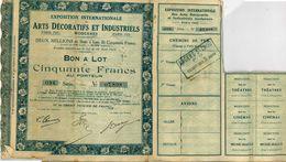 Paris Action Exposition Internationale Des Arts Décoratifs Et Industriels 1925 - Actions & Titres