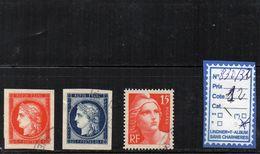 FRANCE OBLITERE - N° 830/32 - Gebruikt