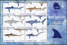 MARSHALL ISLANDS 2018 Shark Sanctuary Sharks Marine Life Animals Fauna MNH - Mammifères Marins