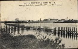 Cp Saint Jean De La Croix Maine Et Loire, Barrage De La Loire Navigable Et Vue Sur Ste Gemmes - Other Municipalities