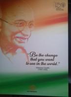 INDONESIA, 2019, MNH,  SPECIAL GANDHI FOLDER BY INDONESIA POST, SHEETLET OF 4v+ FDC - Mahatma Gandhi