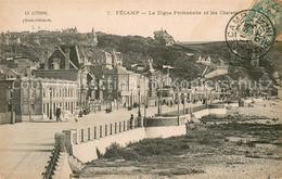 13618595 Fecamp La Digue Promenade Et Les Chalets Fecamp - Fécamp