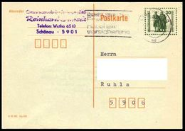 DDR / East-Germany: Ganzsache / Postal Stationery 'Goethe-Schiller-Denkmal, 1990', Mi. P107 Oo - Postkarten - Gebraucht