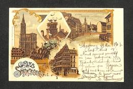STRASBOURG - STRASSBURG - GRUSS Aus .. 1903 - Strasbourg
