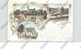 NIEDER-SCHLESIEN - BAD LANDECK-KUNZENDORF / LADEK ZDROJ, Lithographie 1899, Post, Kirche, Schloß - Unclassified